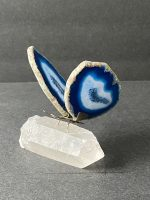Butterfly Agate on Clear Quartz